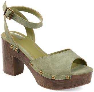 Journee Collection Lorica Studded Platform Sandal