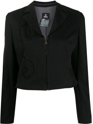 Versace Pre-Owned 1990s Applique Detailed Jacket