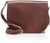 Barneys New York Women's Saddle Bag-DARK BROWN