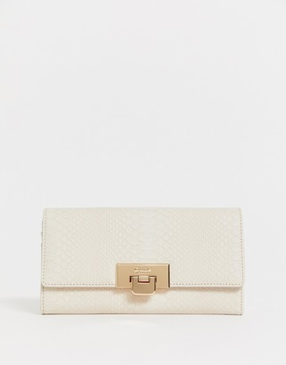 Dune large snake effect buckle detail foldover purse-Multi