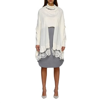 Ermanno Scervino Shawl With Lace Edges