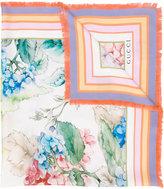 Gucci Hydrangea print scarf - women - Silk - One Size