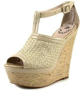 Fornarina Pefqm8339 Sandal Open Toe Leather Wedge Heel.
