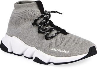 Balenciaga Men's Sweatshirt Knit Speed Lace Up Sneakers