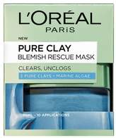 L'Oreal L Oreal Paris Pure Clay Blemish Rescue Face Mask 50ml