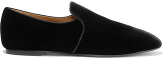 The Row Alys Velvet Loafers