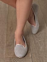 Charles Philip Shanghai Tropez stripe slippers