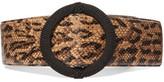 Saint Laurent Python-effect Leather Waist Belt - Snake print