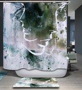 Shine SUN-Bath Decorations Bathroom Decor Sets with Hooks Art Print Polyester Fabric Shower Curtain