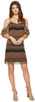 Kensie Animal Mash Up Cold Shoulder Dress KS7K7164 Women's Dress