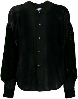 Comme des Garçons Comme des Garçons Sheer Velvet-Sleeves Shirt