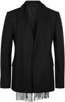 Givenchy Black Scarf-effect Wool Jacket