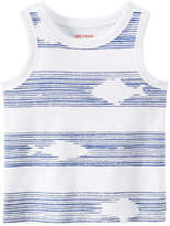 Joe Fresh Baby Boys' Graphic Tank, White (Size 3-6)
