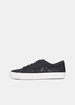Vince Farrell Perforated Suede Sneaker