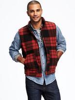 Old Navy Wool-Blend Tartan Vest for Men