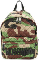 Moschino camouflage logo backpack
