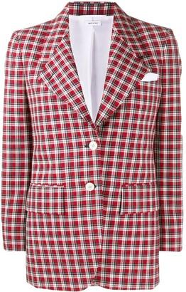 Thom Browne RWB check-print blazer
