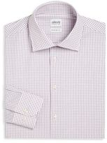 Armani Collezioni Windowpane Checked Modern-Fit Dress Shirt