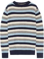The Elder Statesman Picras Striped Cashmere Sweater - Navy