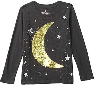 crewcuts by J.Crew Sequin Moon Graphic Tee (Little Kids/Big Kids) (Moon/Stars) Girl's Clothing