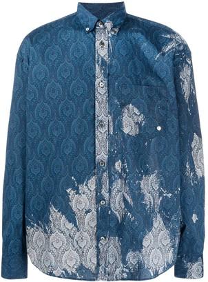 Études Bleach-Effect Paisley Print Shirt