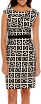 London Times London Style Collection Cap-Sleeve Sheath Dress