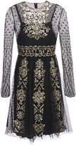 RED Valentino Sequin-embellished Point D'esprit Mini Dress