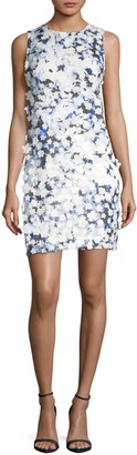 Karl Lagerfeld Paris Applique Printed Lace Dress