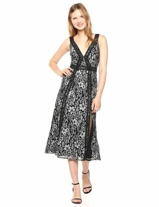 Keepsake Women's Holder Sleeveless LACE FIT & Flare MIDI Dress