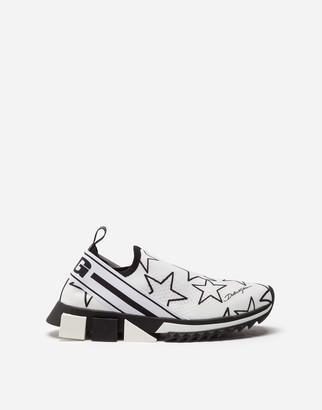 Dolce & Gabbana Mixed Star Print Stretch Mesh Sorrento Sneakers