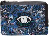Kenzo Blue Flying Tiger Eyes Pouch