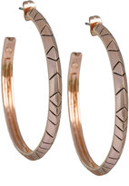 House Of Harlow 1960 Rose Gold Aztec Hoop Earrings