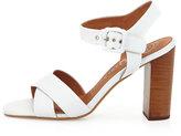 Jeffrey Campbell Cermak Mid-Heel Leather Sandal