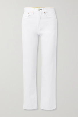Rag & Bone Maya Cropped High-rise Straight-leg Jeans - White