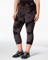 Calvin Klein Plus Size Printed Cropped Leggings, Only at Macy's