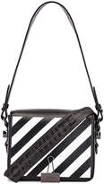 Off-White Off White Diagonal Flap Bag in Black & White | FWRD