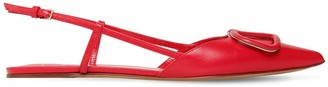 Valentino 10MM VLOGO LEATHER SLINGBACK FLATS