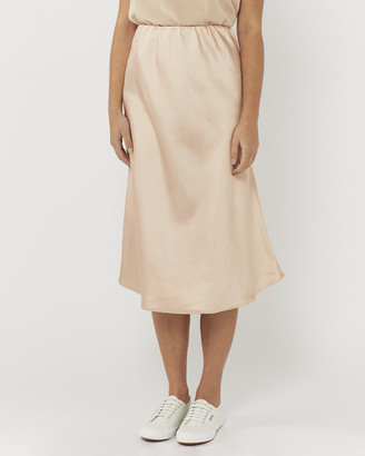 Everly Collective - Women's Neutrals Midi Skirts - Find Your Again Slip Skirt - Size One Size, XS at The Iconic