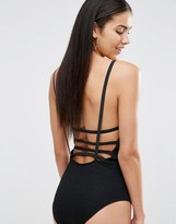Missguided Criss Cross Strap Back Bodysuit