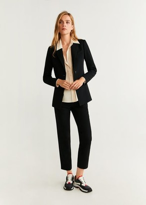 MANGO Structured suit blazer black - 2 - Women
