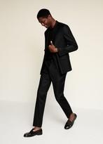 MANGO MAN - Slim fit linen suit pants black - 28 - Men