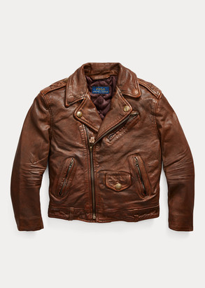 Ralph Lauren Leather Moto Jacket