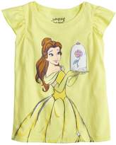 Disneyjumping Beans Disney's Belle Toddler Girl Glittery Graphic Tee by Jumping Beans