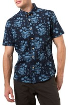 7 Diamonds Men's La Villa Print Woven Shirt