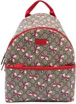 Gucci Bows Printed Gg Supreme Backpack