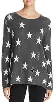 Vintage Havana Distressed Star Intarsia Sweater