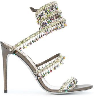 Rene Caovilla Embellished Strappy High-Heel Sandals