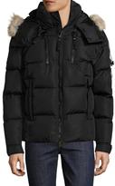 SAM. Fur Hooded Puffer Jacket