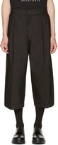 McQ by Alexander McQueen Black Shaped Crop Trousers