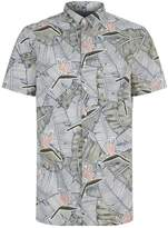 BOSS ORANGE Palm Leaf Printed Shirt